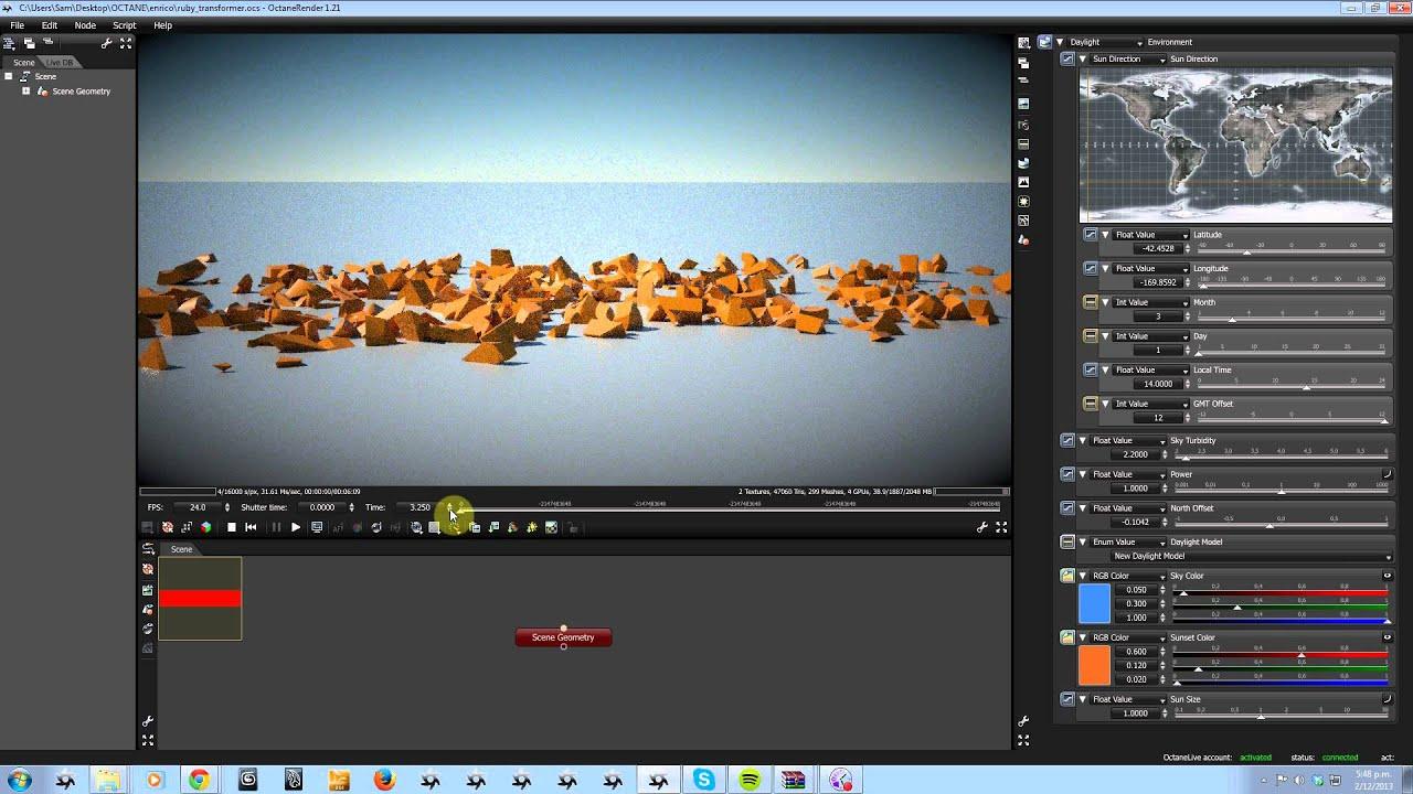 OctaneRender 1 5: Alembic animation support (4)