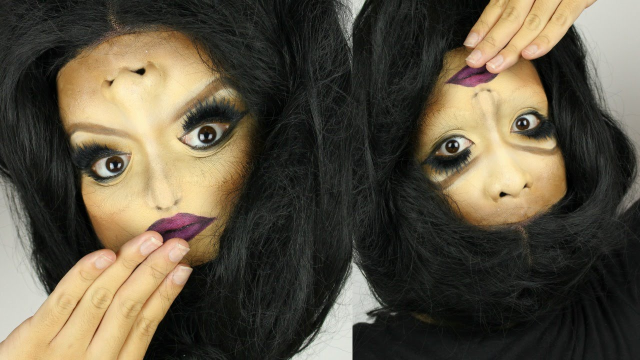 Upside Down Girl Halloween Makeup Tutorial - YouTube