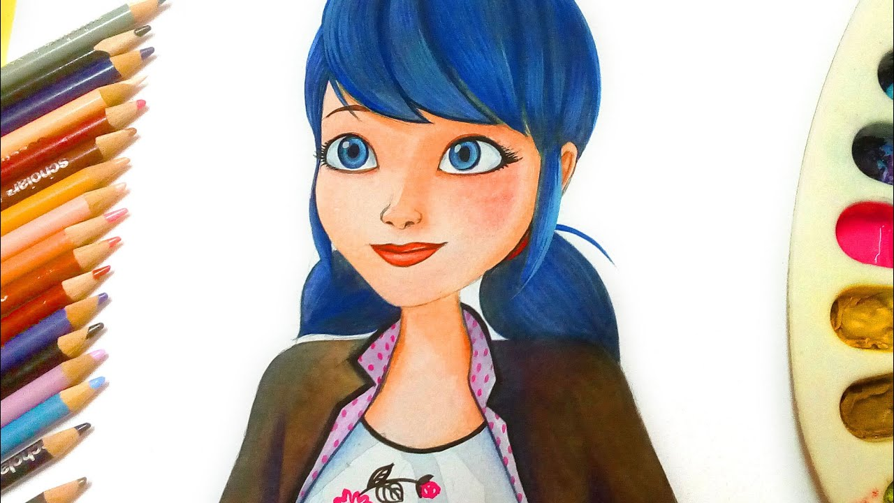 How to Draw marinette/Ladybug from Miraculous - YouTube