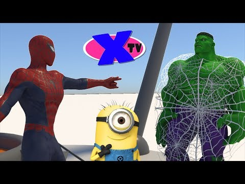 Superheroes at the Chewing Gum Factory. Superhero stops the villain. Funny cartoon for children.