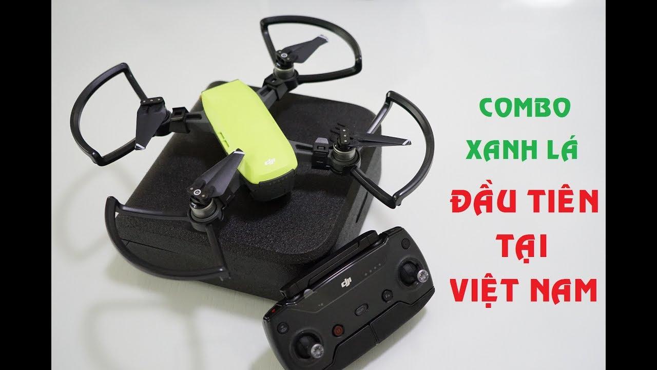 Soc Unboxing Dji Spark Fly More Combo Xanh L Meadow Green U Tin Ti Vit Nam