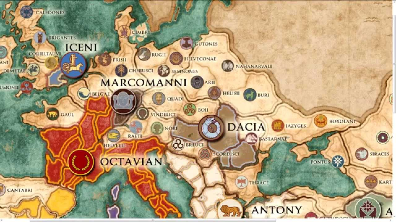 total war rome ii imperator augustus campaign map overview