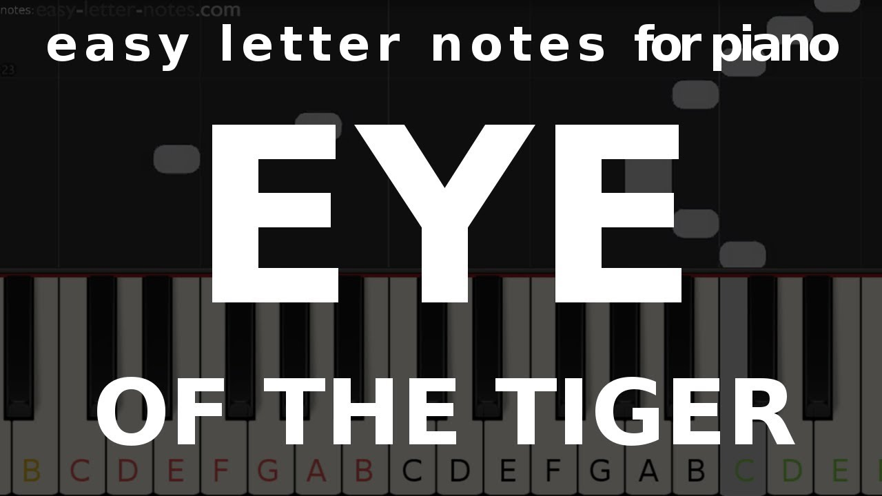 Letter notes – Eye of the Tiger