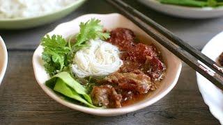 Cch lm BUN CHA recipe - VIETNAMESE GRILLED PORK  VERMICELLI