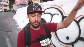 TV Banqueta - Artistas são presos após grafitar em muro pintado pela prefeitura - 13/08/2015