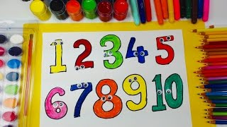 How to Draw Numbers for Kids Learn Numbers 1to10 Learning Colors
