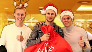 Ostetaan lahjoja tuntemattomille teidän antamilla rahoilla! feat. Miklu ja Jimi