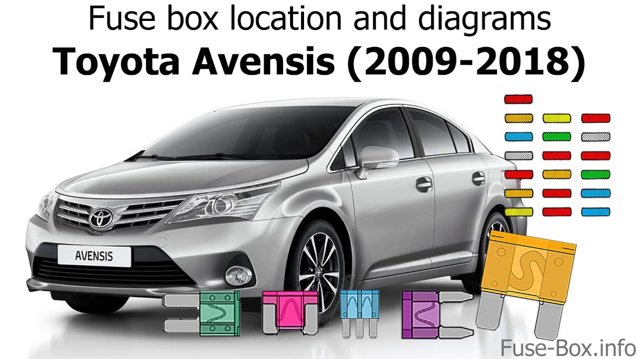 fuse box location and diagrams toyota avensis 2009 2018  [ 1280 x 720 Pixel ]