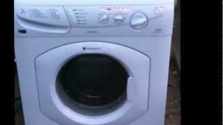 hotpoint wt540 washing machine on spin