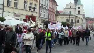 Protest pracowników Domów Pomocy Społecznej