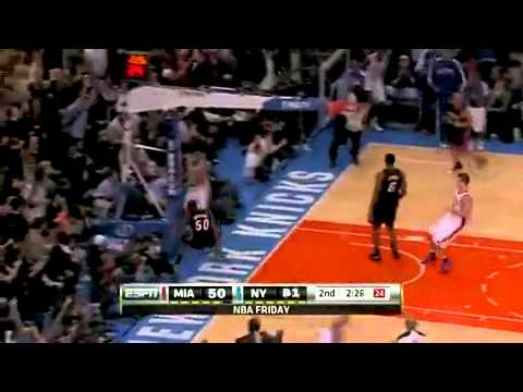 Wilson Chandler One-Handed Power Dunk on Joel Anthony (December 17, 2010)