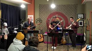 Robert Nic and Zach Performing Canteloupe Island Main Street Music and Art Studio
