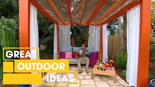 How To Make Your Own Mexican Pergola | Outdoor | Great Home Ideas
