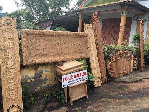Hoành phi câu đối gỗ gụ Bác Chính Vĩnh Tường Vĩnh Phúc 30-8-2016