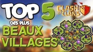 Top 5 DES PLUS BEAUX Villages de Clash of Clans Ft.Farsattack