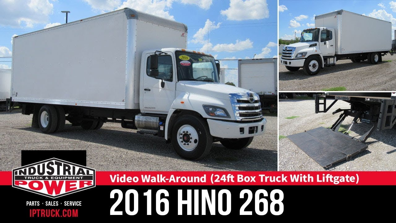 2016 HINO 268 (24ft Box Truck with Lift gate) | IP Truck