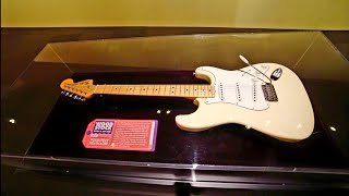 JIMI HENDRIX Woodstock Fender Stratocaster Guitar at MoPOP - SEATTLE Daily Travel Vlog (2/9/19)