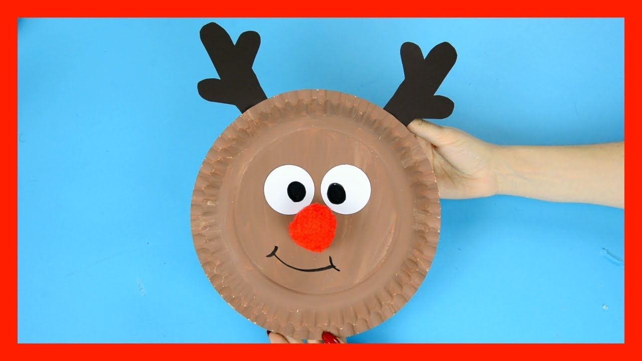 Reindeer Paper Plate Craft - cute Christmas crafts for kids  sc 1 st  YouTube & Reindeer Paper Plate Craft - cute Christmas crafts for kids - YouTube
