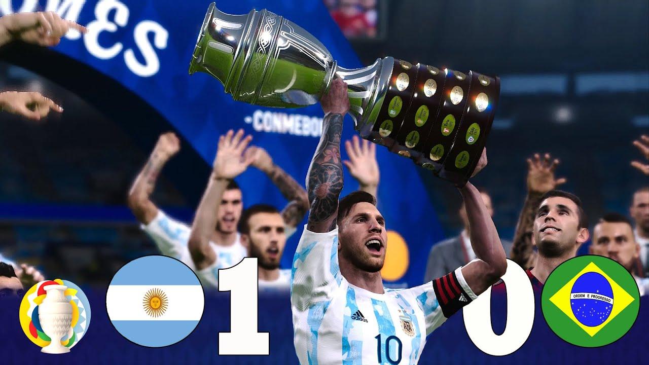 Recreación Argentina 1-0 Brasil - Final Copa América 2021