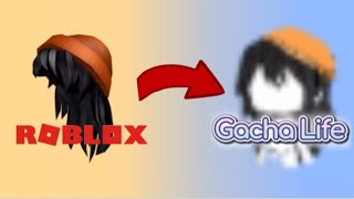 Recreating Roblox hairstyles in Gacha Life!