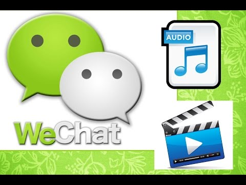 How to send audio or video in wechat from iphone