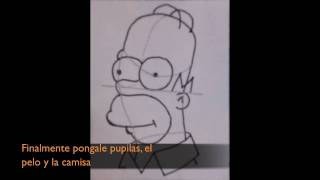 Como Dibujar a Homero Simpson - How to Draw Homer Simpson (HD) (English Subtitled)