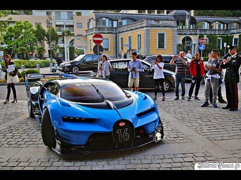 Bugatti Vision Gran Turismo Concept - Start Up - Driving - Loud Sound