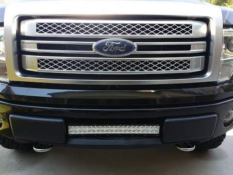 "HOW TO INSTALL F150 22"" (21.6"") LED BAR IN THE LOWER INTAKE GRILL F150LEDS.COM"