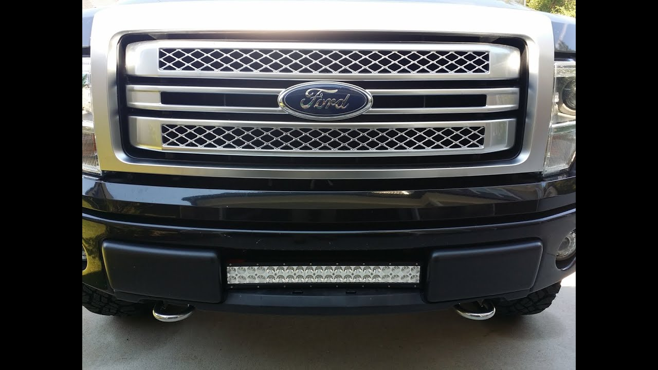 how to install f150 22 21 6 led bar in the lower intake grill rh youtube com
