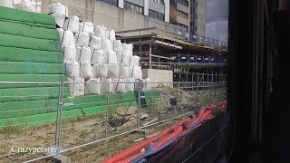 Treinrit Zwolle Langs bouw nieuw bus viaduct, met Blauwnet