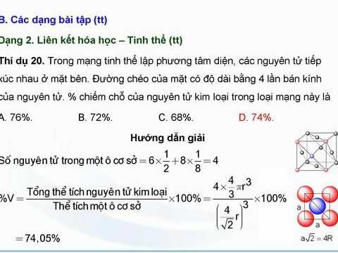 Bài 4:Liên kết hóa học-Hệ thống bài tập = Part 3