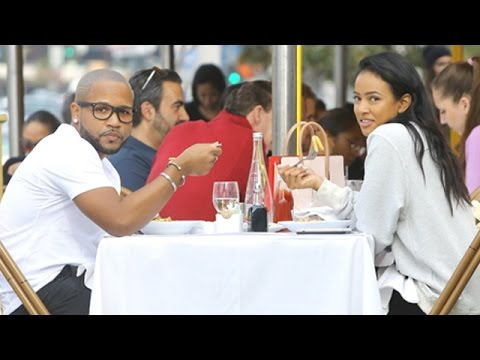 X17 EXCLUSIVE - Karrueche Tran And A Mystery Man Enjoy Lunch