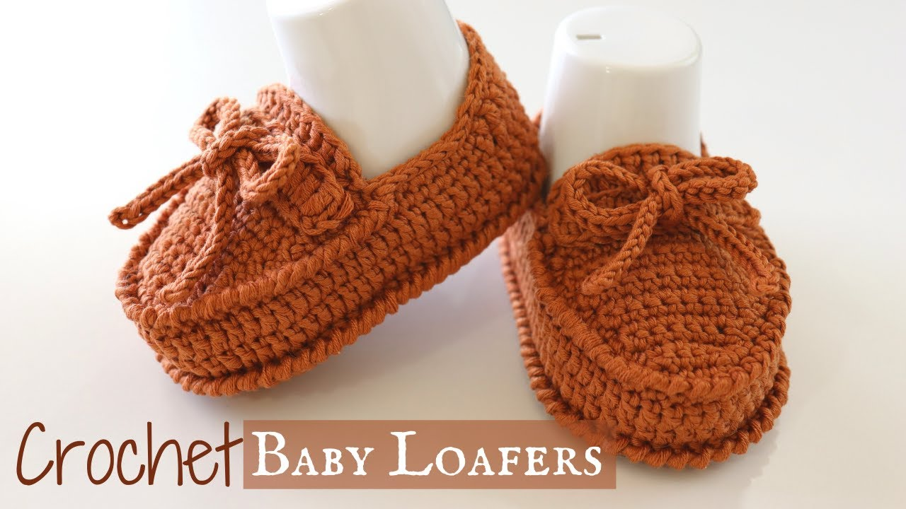 Crochet Baby Loafers / Shoes - YouTube