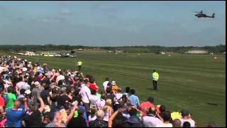 Prince Harry's stunt helicopter wows the crowds