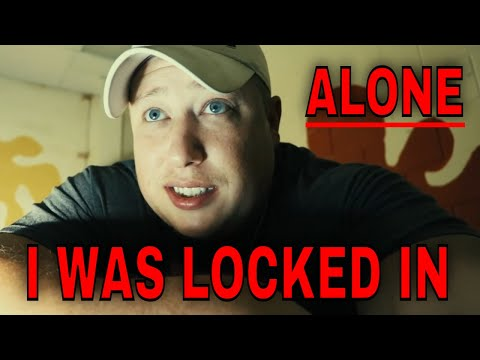 (30 Minute ALONE Challenge) ABANDONED REC CENTER  ROB GETS LOCKED INSIDE, WHAT EVIL AWAITS?