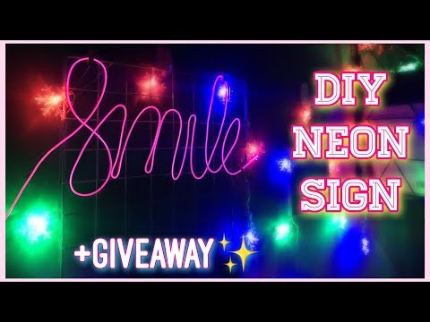 DIY Tumblr Neon Sign✨(EASY!) + GIVEAWAY - Peachy Liv