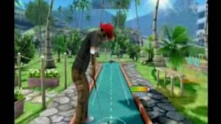 Funfun minigolf gameplay Wii