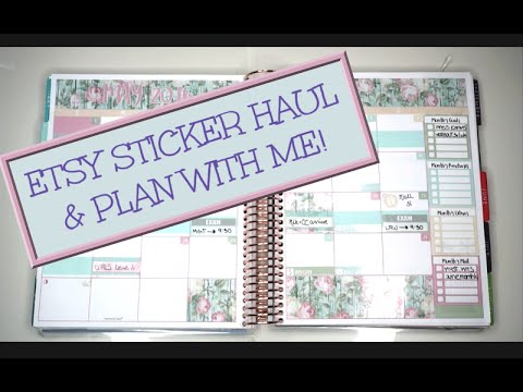 Esty Sticker Haul & Monthly Plan With Me  Cate of Hearts