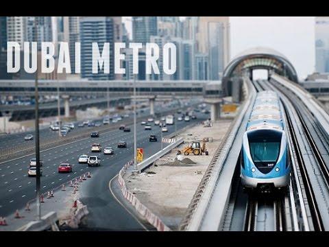 Dubai Metro Public Transport System UAE