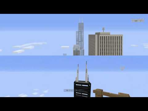 Minecraft PS4 Willis Tower 1:2 Timelapse   Capital City