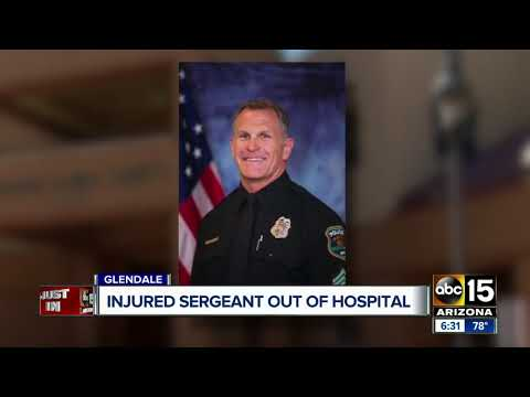 Glendale Sergeant shot by suspect recently released from hospital