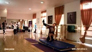 """ТСТ """"Жар-Птица"""", фрагменты урока Акробатики 1-й год обучения (2014г)"""