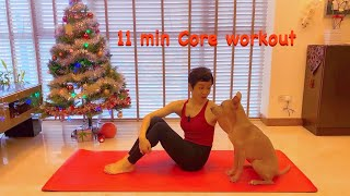 Short and Sweet Series | 11 min Core Pilates workout with Grace and Chanel 🐕