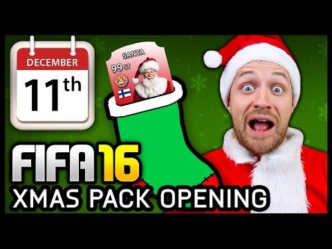 XMAS ADVENT CALENDAR PACK OPENING #11 - FIFA 16 ULTIMATE TEAM