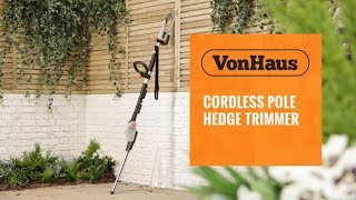 VonHaus 20V Max. Pole Hedge Trimmer