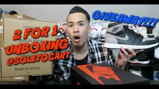2 FOR 1 UNBOXING @SOLETOCART   SHADOW 1 GIVEAWAY !!! TINKER RELEASING 4/30