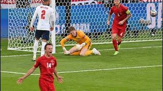 Англия Дания 2 1 Евро 2020 Обзор матча все голы и лучшие моменты euro 2020