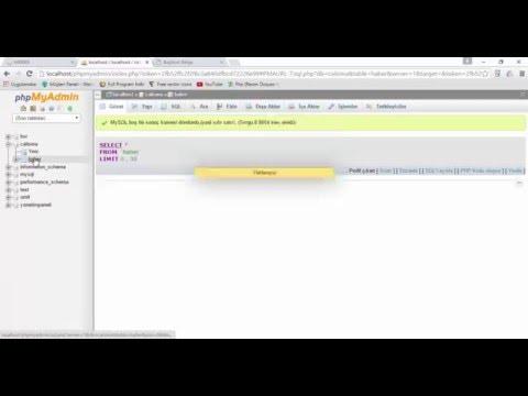Dreamweaver Ile Veri Tabanı Bağlantısı Oluşturma Ve Veri Tabanına Kayıt Ekleme