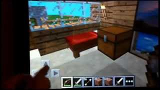 Minecraft iPad tutorial My House Tour and More Cool Stuff Survival Mode Ep. 1
