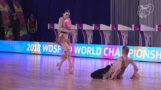 2018 PD World SD LAT   R1 Kupchik - Koliagina, RUS   DanceSport Total
